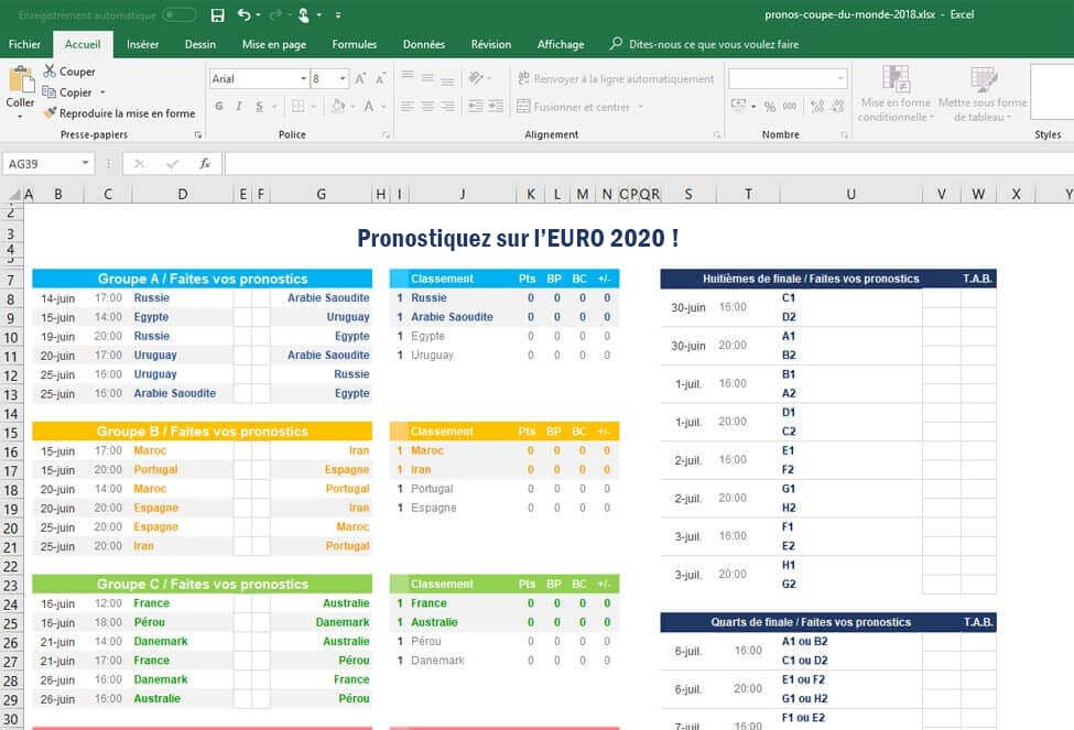 Fichier Excel