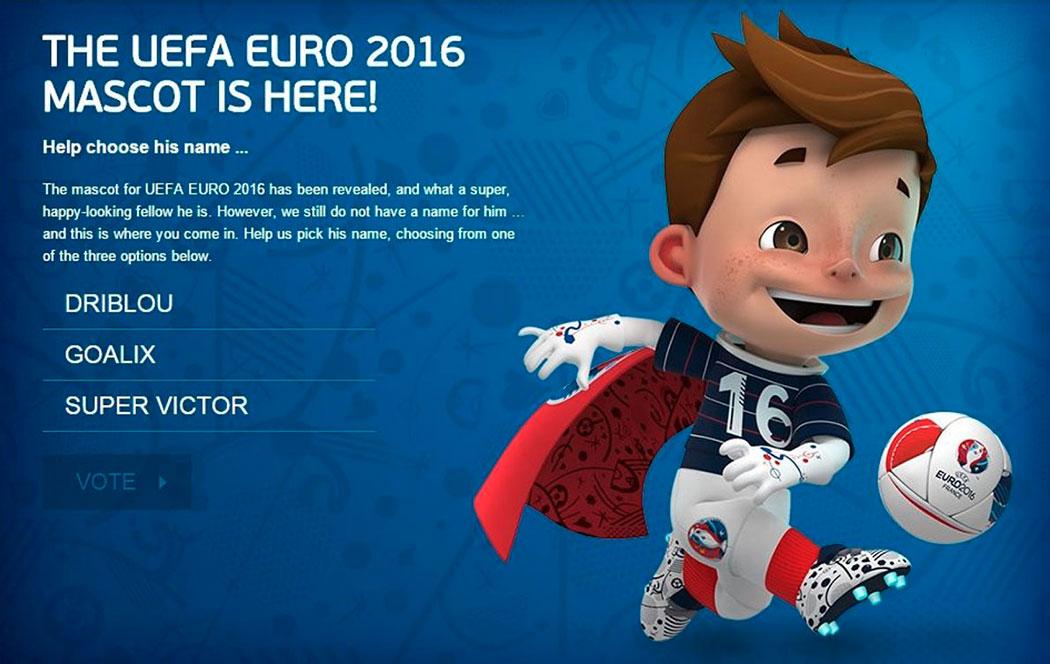 la mascotte de l 39 euro 2016 pr sent e au stade v lodrome coupe du monde 2018. Black Bedroom Furniture Sets. Home Design Ideas