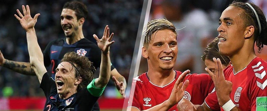 1/8èmes de finale : Croatie-Danemark pour les nuls