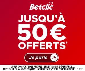 50€ offerts avec Betclic