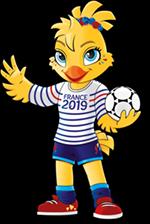 Ettie, mascotte officielle de la Coupe du monde 2019