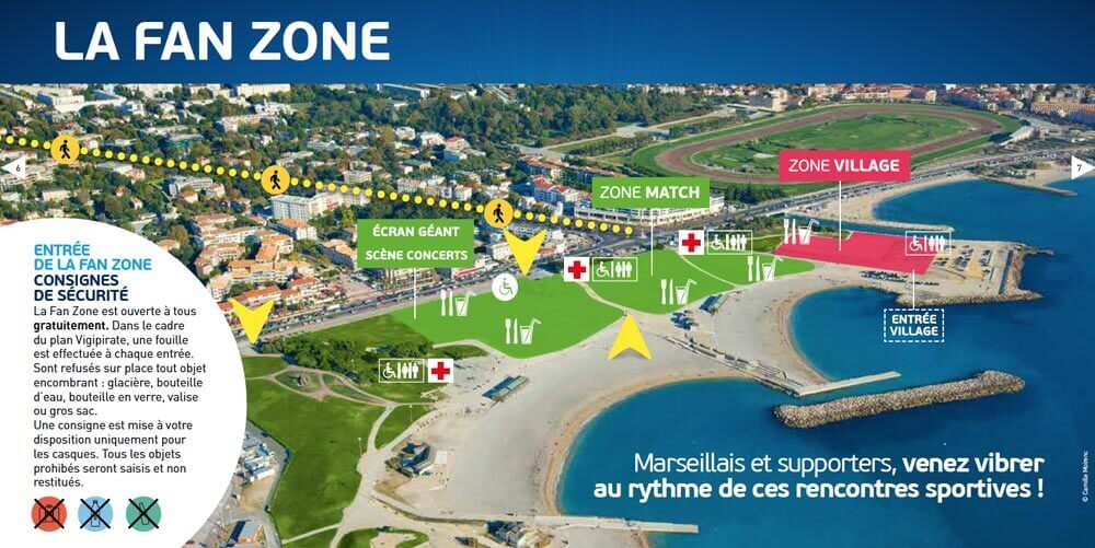 Fan Zone Marseille et Saint-Denis