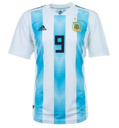 Maillot domicile de l'Argentine