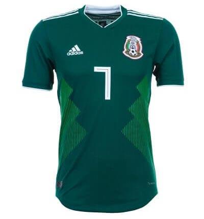 Maillot domicile du Mexique
