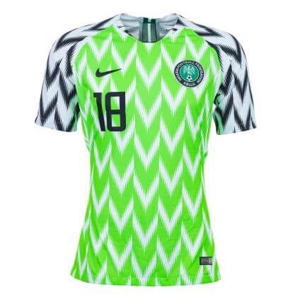 Maillot domicile du Nigéria