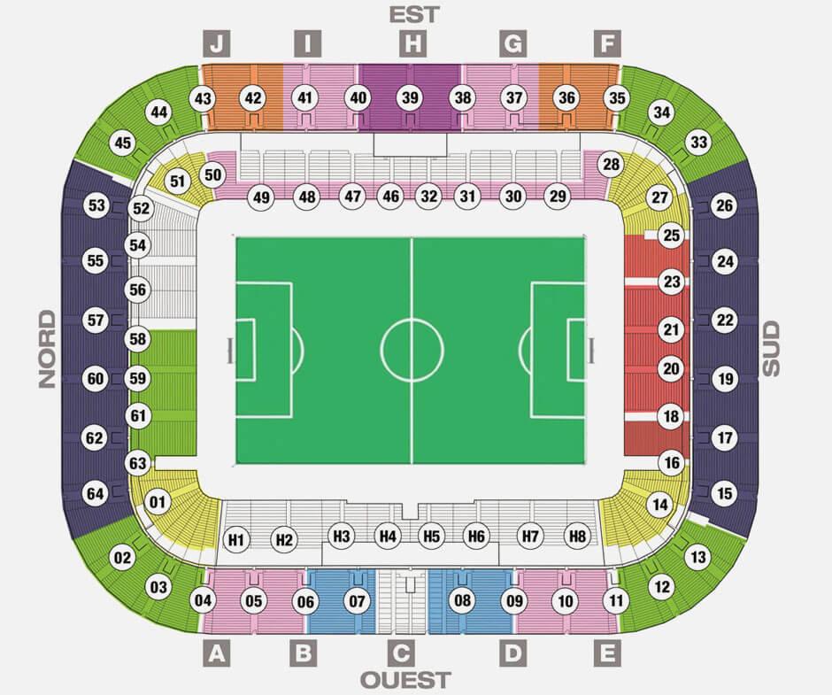 Plan du Stade Matmut Atlantique