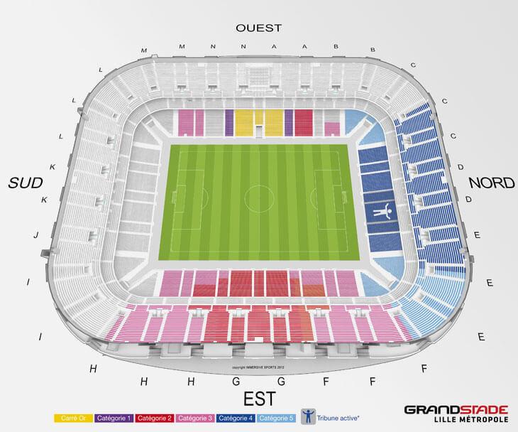 Plan du Stade Pierre Mauroy