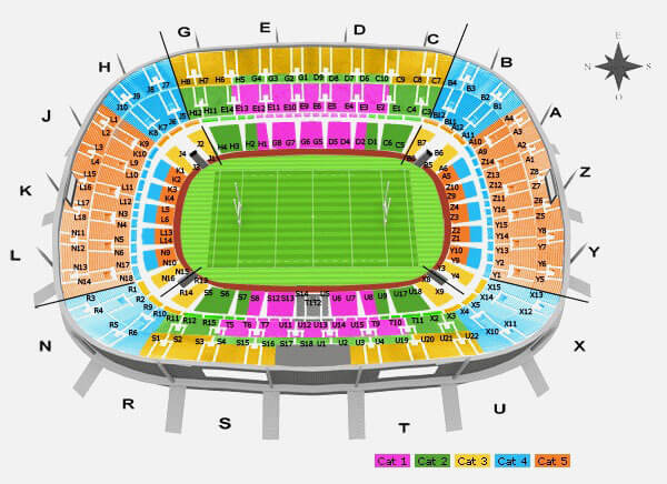 Plan du Stade de France